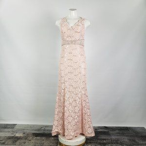 My Michelle Blush Pink Lace Dress Gown Size 11